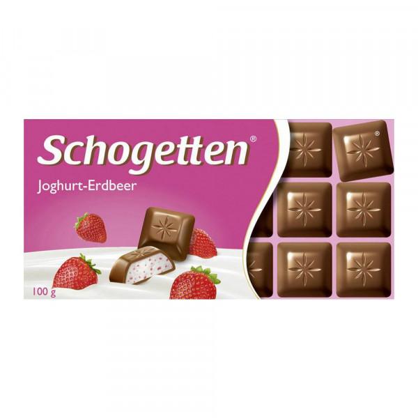 Tafelschokolade Schogetten, Joghurt/Erdbeer