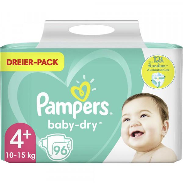 Windeln Baby Dry Gr. 4+, 10-15kg Dreierpack