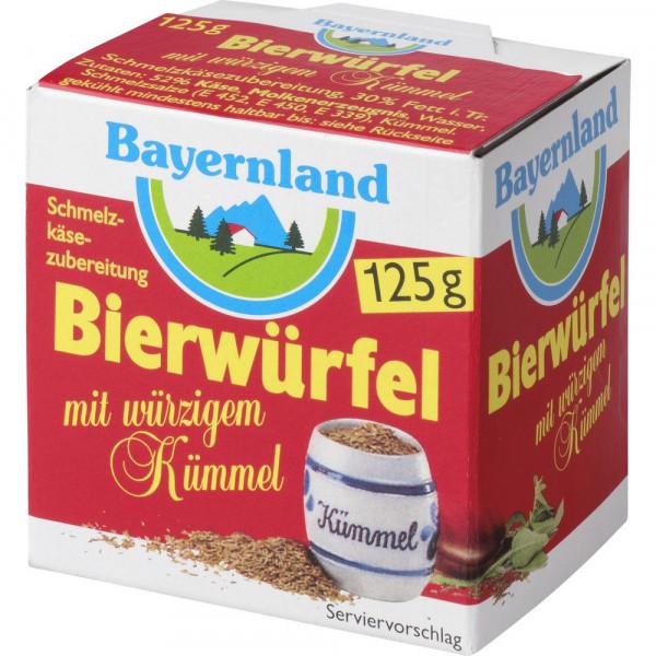 Schmelzkäse Bierwürfel, Kümmel