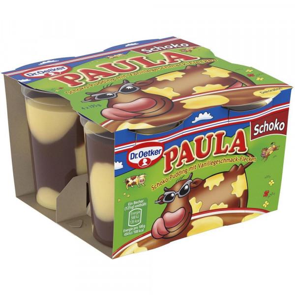 """Pudding """"Paula"""", Schoko-Vanille 4 x 125g"""