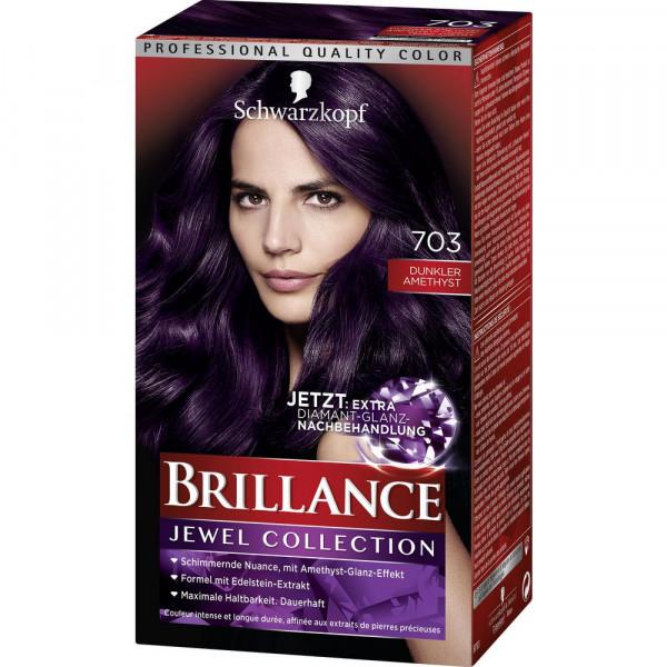 """Haarfarbe """"Brillance"""", 703 Dunkler Amethyst"""