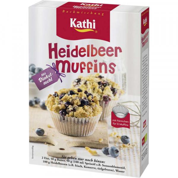 Heidelbeer-Muffins mit Dinkelmehl