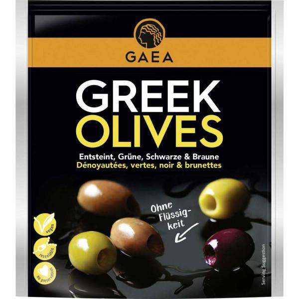 Griechische Oliven, gemischt, ohne Stein
