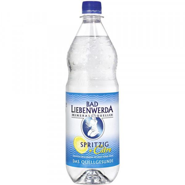 Mineralwasser, Spritzig + Citro (12 x 1 Liter)