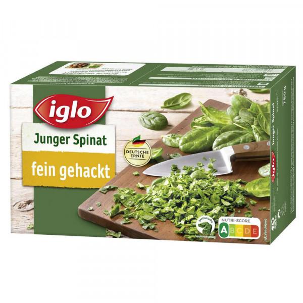 Junger Spinat, portionierbar