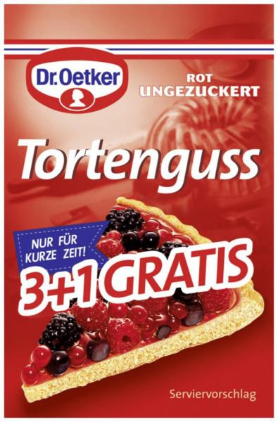 Tortenguss rot 3+1, ungezuckert