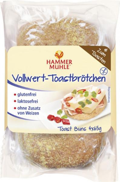 Vollkorn Toastbrötchen, glutenfrei