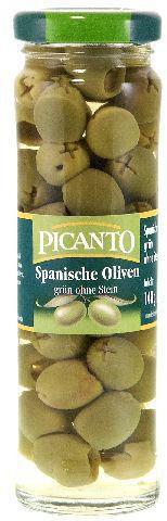 Spanische grüne Oliven ohne Stein