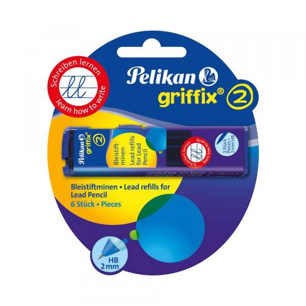 """Bleisitft-Ersatzminen """"griffix"""" HB, 2 x 3 Stück"""