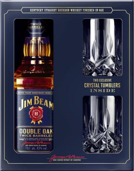 Double Oak Whisky + 2 Tumbler 40%
