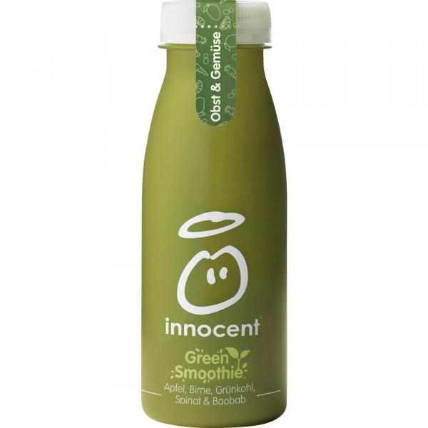 Green Smoothie mit Apfel, Birne, Grünkohl, Spinat & Baobab