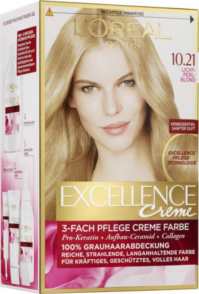 """Haarfarbe """"Excellence"""", 10.21 Lichtperlblond"""