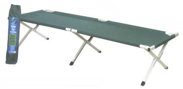 Stahl-Feldbett, blau / grün