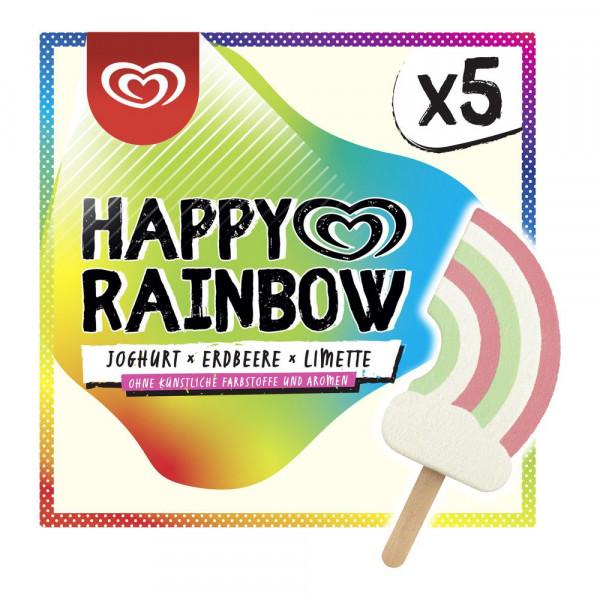 "Stieleis ""Happy Rainbow"", Joghurt-Erdbeere-Limette"