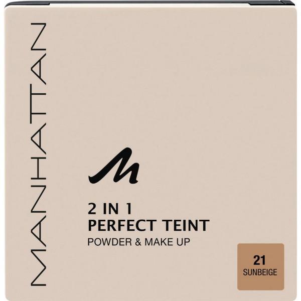Puder Perfect Teint, 2 in 1 Powder & Make Up, Sun Beige 21