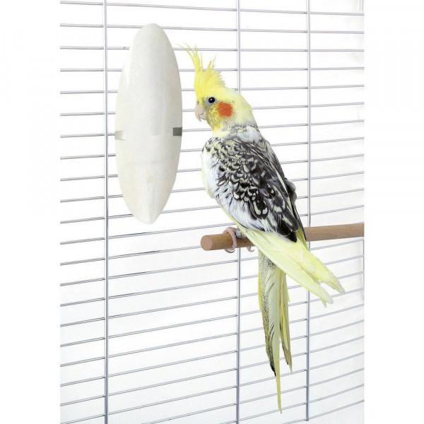 Vogel Sepia Schale mit Halter, ca. 12 cm