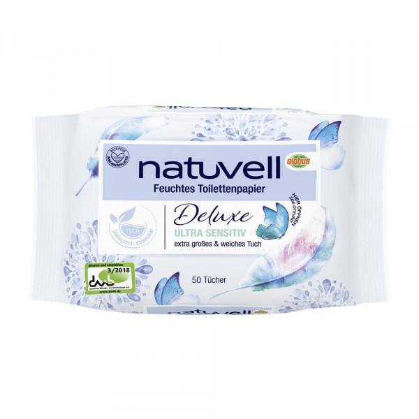 """Feuchtes Toilettenpapier """"Deluxe, ultra sensitiv"""""""