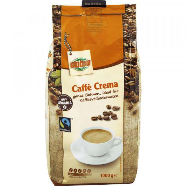 Faitrade Kaffee Crema, ganze Bohne