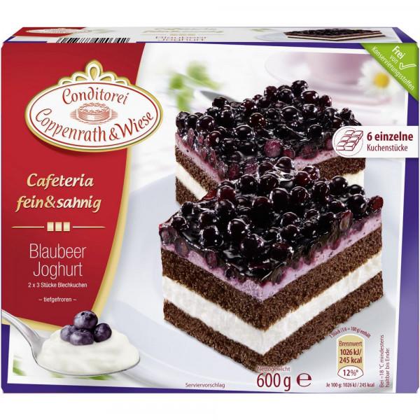 Fein&Sahnig Kuchenschnitten, Blaubeer-Joghurt, tiefgekühlt