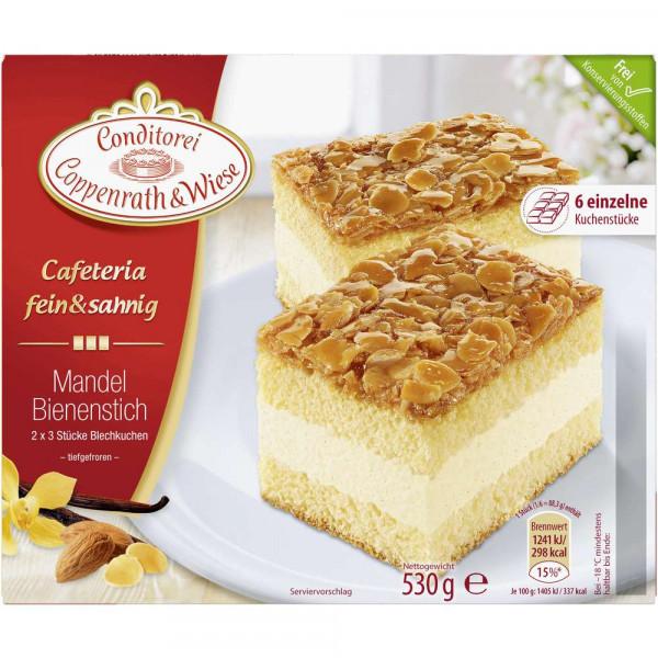 Fein&Sahnig Kuchenschnitten, Mandel-Bienenstich, tiefgekühlt