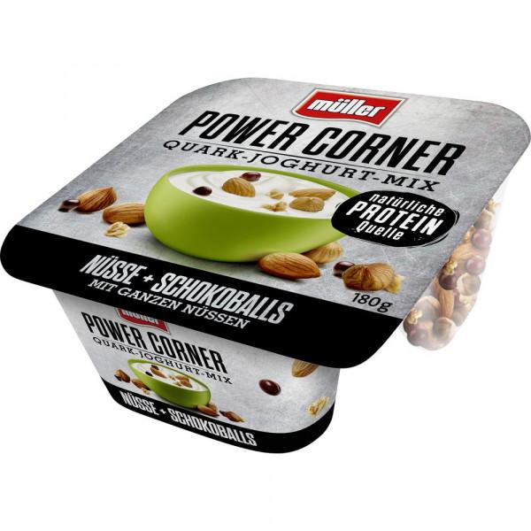 "Quark-Joghurt-Mix ""Power Corner"", Nüsse-Schokoballs"