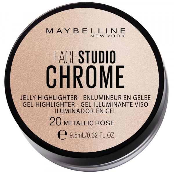 Gel Highlighter Face Studio Chrome, Metallic Rose 20