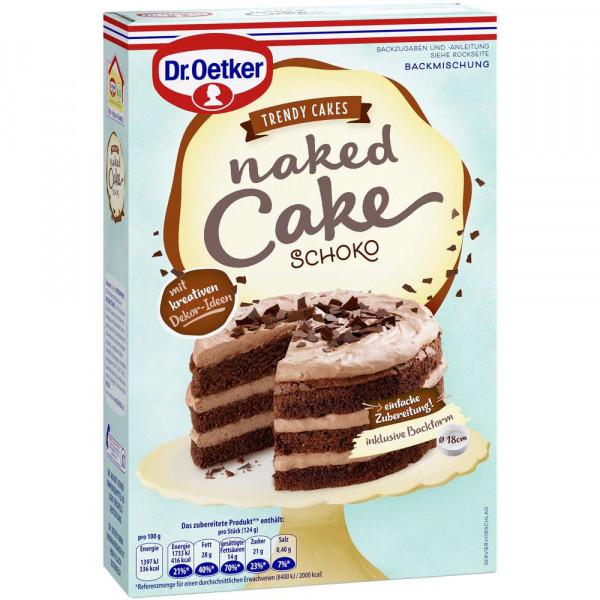 Backmischung Naked Cake, Schoko