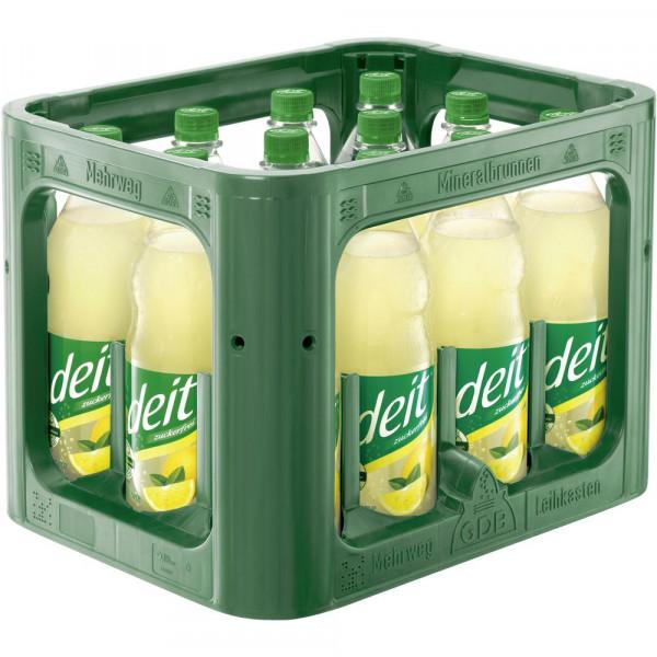 Naturtrübe Zitronen-Limonade, zuckerfrei (12 x 1 Liter)