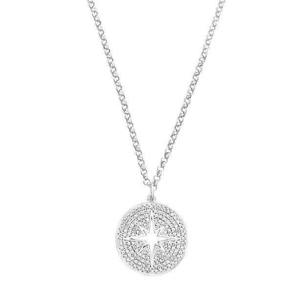Damen Halskette mit Anhänger aus Silber 925 mit Zirkonia (4056867024624)