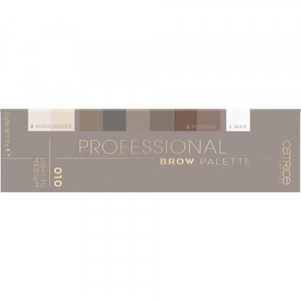 Augenbrauenpalette Professional Brow Palette, Light to Medium 010