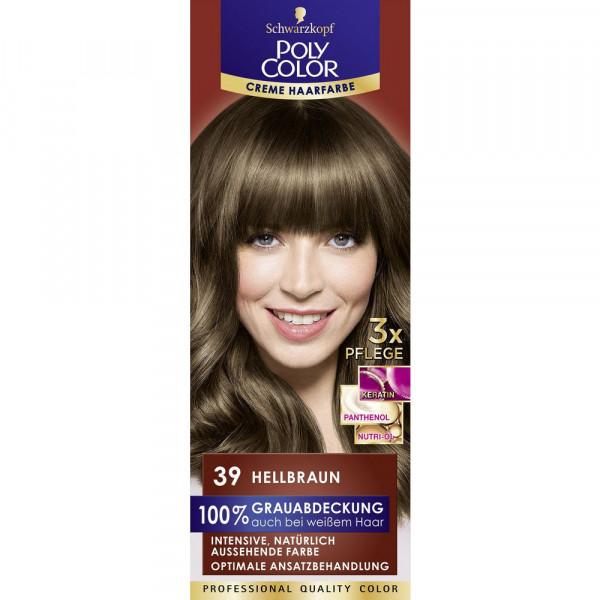 """Haarfarbe """"Poly Color"""", 39 Hellbraun"""