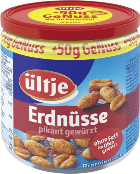 Erdnüsse, pikant gewürzt + 50g gratis
