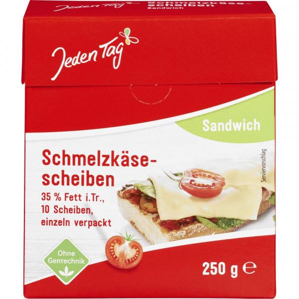 Schmelzkäsescheiben, Sandwich