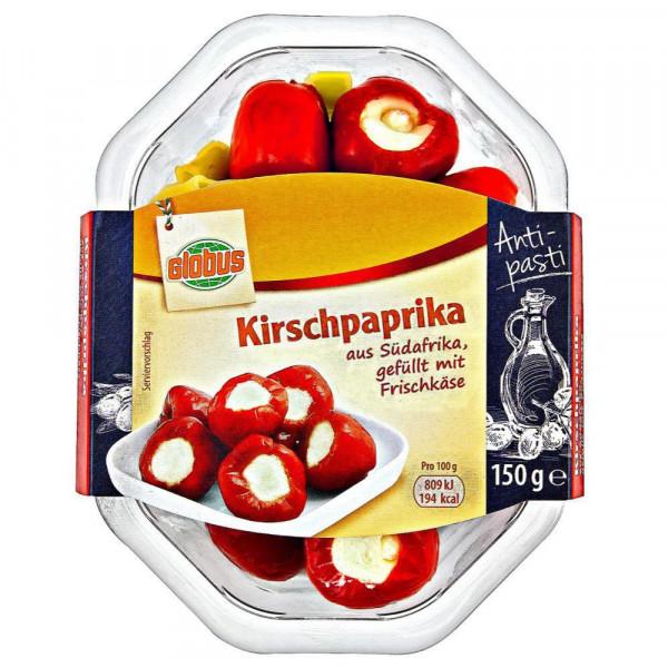 Kirschpaprika, gefüllt mit Frischkäse