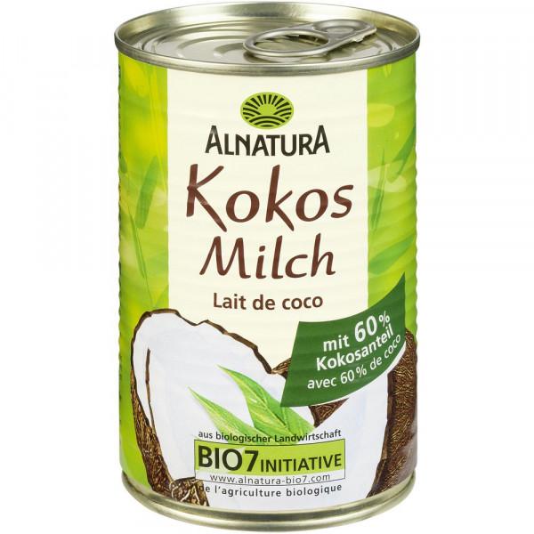 Bio Kokosmilch mit 60% Kokosanteil