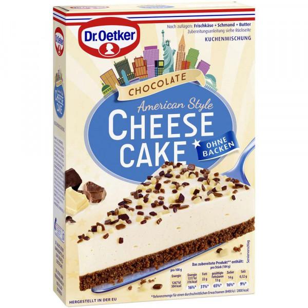 """Backmischung """"American Style, Cheese Cake"""", Schokolade"""