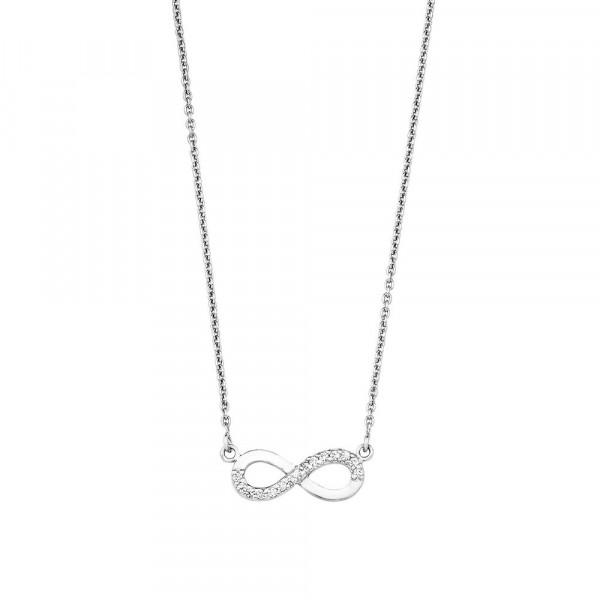 Damen Halskette mit Anhänger aus Silber 925 mit Zirkonia