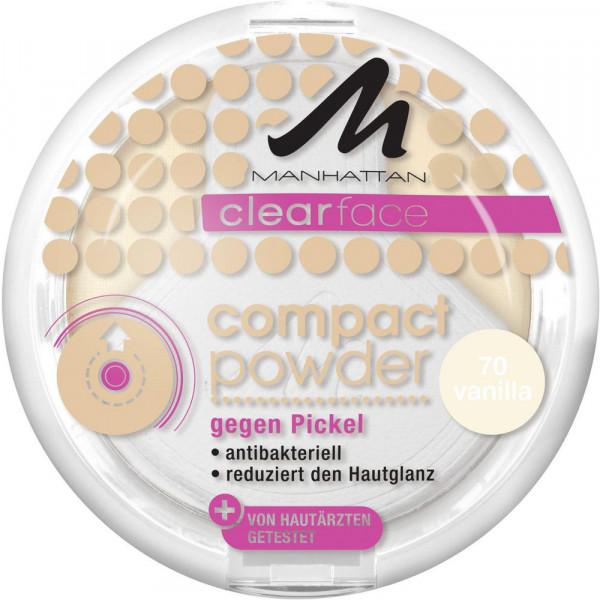 Clearface Compact Powder gegen Pickel, Vanilla 70