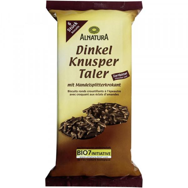 Bio Dinkel-Knuspertaler, zartbitter