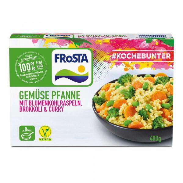 Gemüsepfanne mit Blumenkohlraspeln, Brokkoli & Curry