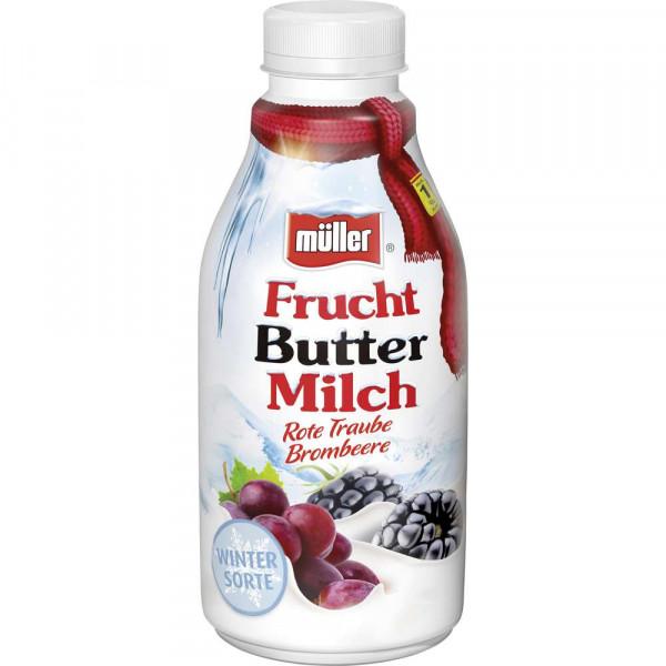 "Fruchtbuttermilch ""Winter Sorte"", rote Traube/Brombeere"