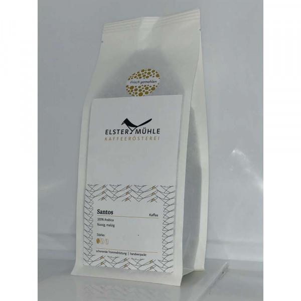 Kaffee Santos, gemahlen