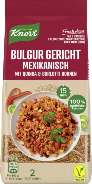 Bulgur Gericht, mexikanisch mit Quinoa & Borlotti Bohnen