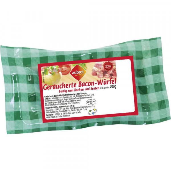 Geräucherte Bacon-Würfel