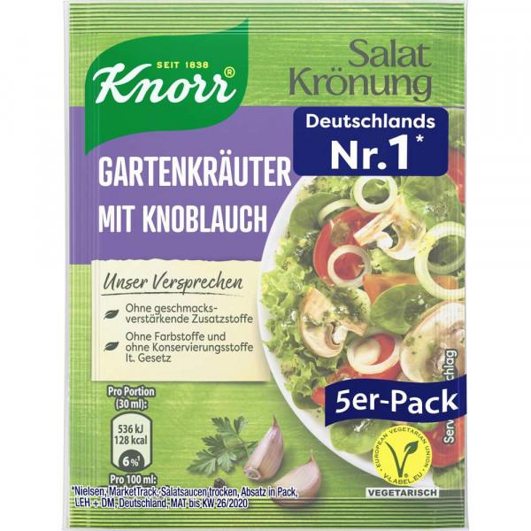 Salat Krönung, Gartenkräuter Knoblauch